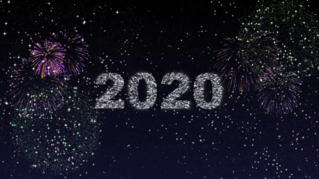 Happy new year 2020 with fireworks Happy new year 2020 with fireworks fireworks videos stock videos & royalty-free footage