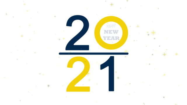 Happy New year 2021 alphabet text on isolated white background. Typography font graphic desgin. 4K footage video motion graphic design Happy New year 2021 alphabet text on isolated white background. Typography font graphic desgin. 4K footage video motion graphic design happy new year 2021 stock videos & royalty-free footage