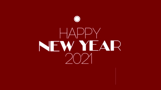 4K Happy New Year - 2021 Animation - Firework Background Animation of New Year. HD 3840x2160 happy new year 2021 stock videos & royalty-free footage
