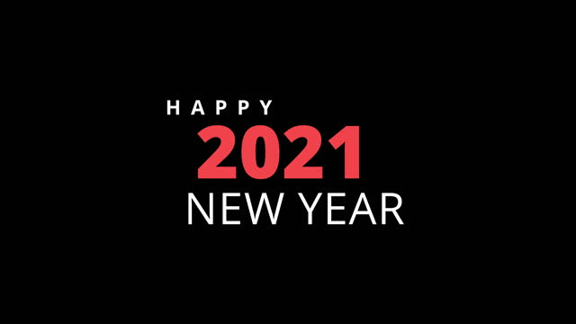 4K Happy New Year - 2021 Animation