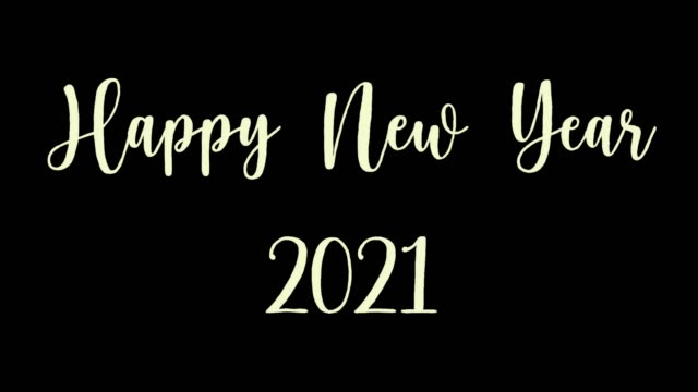Happy new year 2021 black