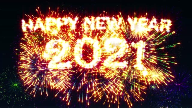 Happy new year 2021 Fireworks Display video