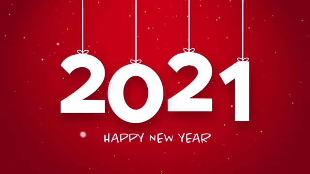 Happy New Year 2021 string red background new year resolution concept. Happy New Year 2021 string red background new year resolution concept. happy new year 2021 stock videos & royalty-free footage