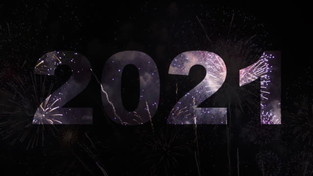 Happy New Year 2021 text appearing in the front of wonderful fireworks,Fireworks Display 2021 Happy New Year 2021 text appearing in the front of wonderful fireworks,Fireworks Display 2021 happy new year 2021 stock videos & royalty-free footage