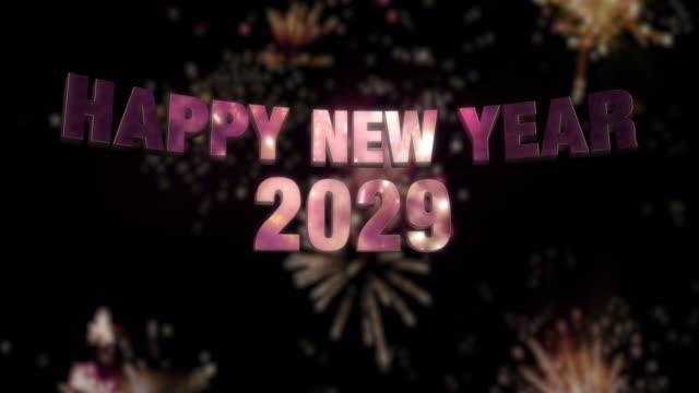Happy New Year 2029 Loop 4K Happy New Year 2029 Loop 4K 2020 2029 stock videos & royalty-free footage