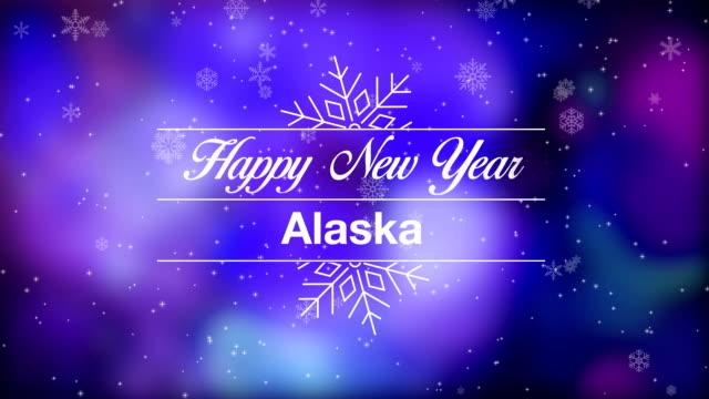 happy new year alaska - alaska stato usa video stock e b–roll