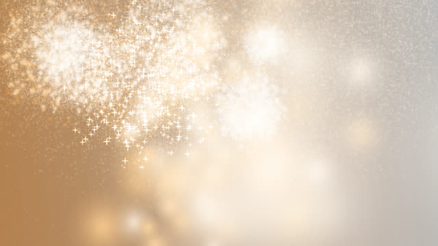 2020 Happy new year celebration firework orange background
