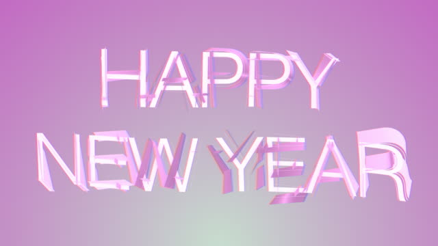 Happy New Year Colourful Text video