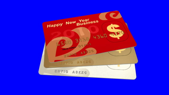 happy new year credit card video