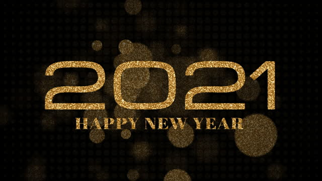 2021 Happy New Year Golden shimmering particles text with gold Bokeh lights 4K 3D animation. 2021 Happy New Year footage for overlaying to your video. Golden colored bokeh abstract party celebration. 2021 Happy New Year Golden shimmering particles text with gold Bokeh lights 4K 3D animation. 2021 Happy New Year footage for overlaying to your video. Golden colored bokeh abstract party celebration. happy new year 2021 stock videos & royalty-free footage