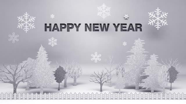 vídeos de stock, filmes e b-roll de happy novo ano, feito de papel works - ano novo