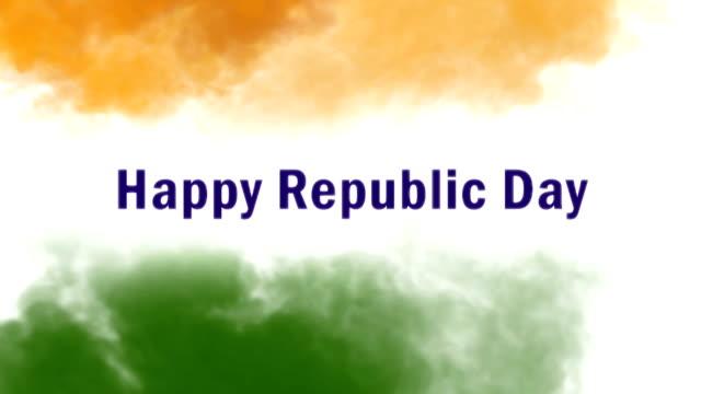 happy republic day, animation video - cumhuriyet günü stok videoları ve detay görüntü çekimi