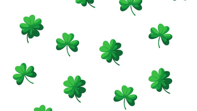 happy saint patricks day animation with clovers pattern happy saint patricks day animation with clovers pattern ,FullHD video animated shamrock stock videos & royalty-free footage