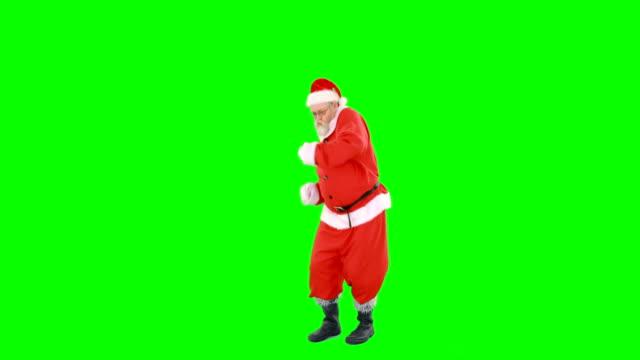 Happy santa claus dancing and singing video