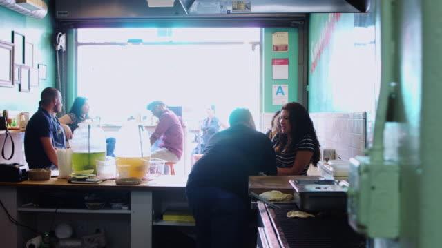 Happy Scene in Local Taqueria video
