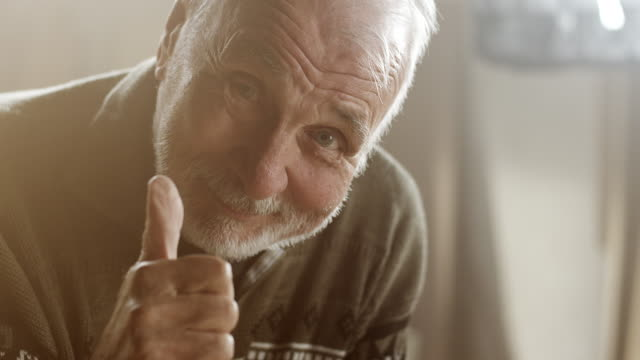 Happy senior carpenter video