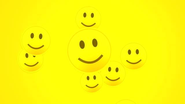 happy smiley - smiley stock-videos und b-roll-filmmaterial