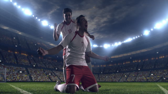 Happy soccer player video
