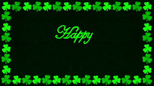 Happy St. Patrick's Day Animación de felicitación - vídeo