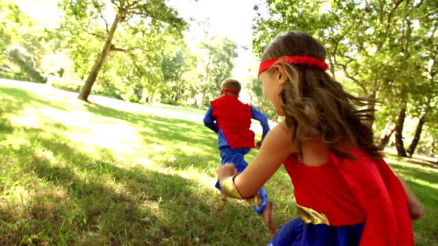 Happy superhero children video