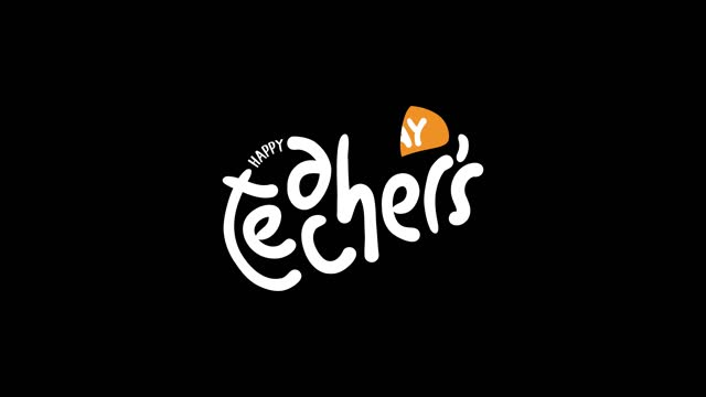 Happy teacher's day in motion graphic design Happy teacher's day in motion graphic design teacher appreciation week stock videos & royalty-free footage