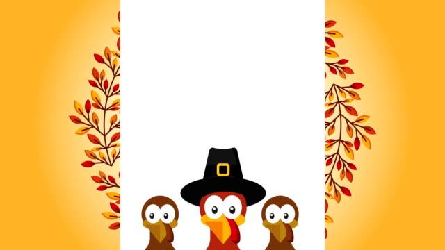 與火雞一起慶祝感恩節快樂 - 土耳其 個影片檔及 b 捲影像
