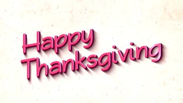 happy thanksgiving in 3d text background - thank you background filmów i materiałów b-roll