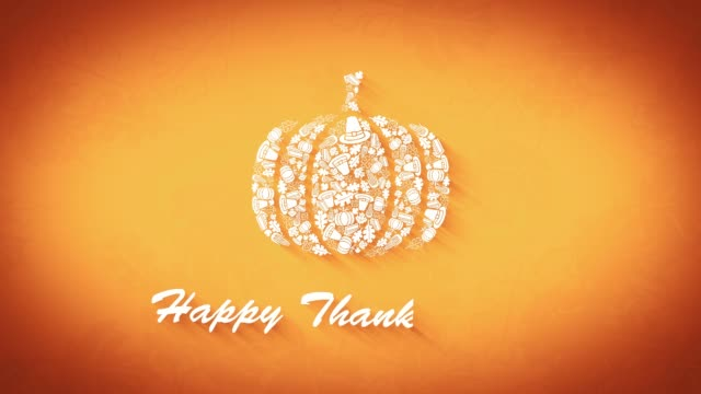 happy thanksgiving title screen - thanksgiving background stock videos & royalty-free footage