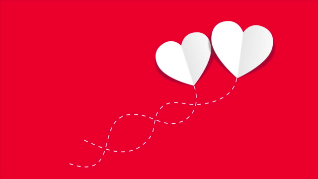 Happy valentine's day Animation Happy valentine's day Animation cut out valentines day stock videos & royalty-free footage