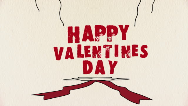 happy valentines day greeting - valentines day stock videos and b-roll footage