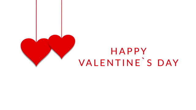 Happy Valentine`s Day Happy Valentine's Day Card valentines day stock videos & royalty-free footage