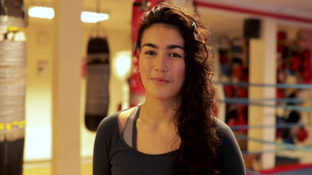 Happy Woman Boxing Instructor