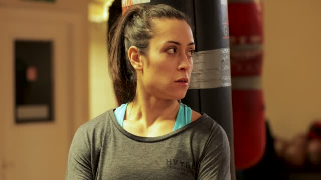 Happy Woman Boxing Instructor video