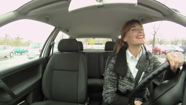 HD: Happy Woman Driving video
