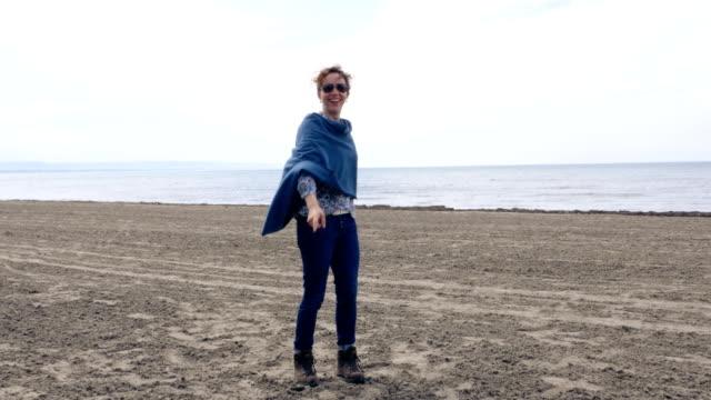 Happy Woman on Lake Ontario's Beaches video