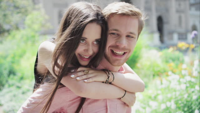 Happy young couple video