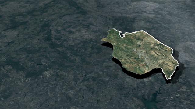 harare province - animation map - insygnia filmów i materiałów b-roll