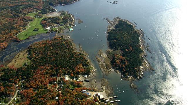 Harbor Island  - Aerial View - Maine,  Sagadahoc County,  United States