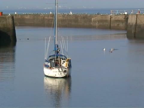 vídeos y material grabado en eventos de stock de harbour escenas 10 embarcación - anclado