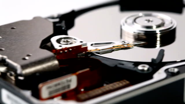 HDD Hard Drive Disk. Close-Up video