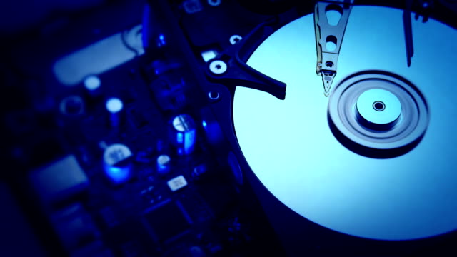 Hard Drive Close up of modern opened hard drive - 1080 HD backup stock videos & royalty-free footage