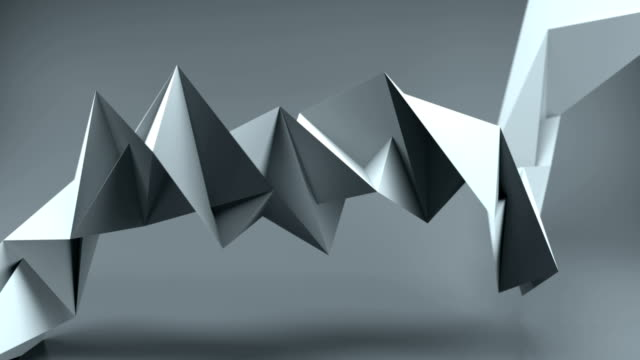 Hard surface twisted grey shape loopable 3D render animation Hard surface twisted grey shape. Abstract loopable 3D render animation twisted stock videos & royalty-free footage