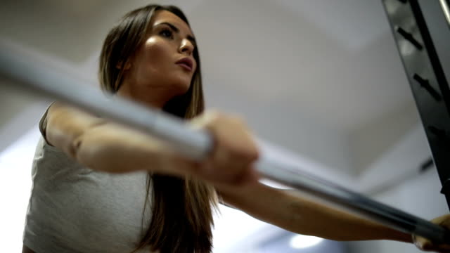 Hard training in gym video