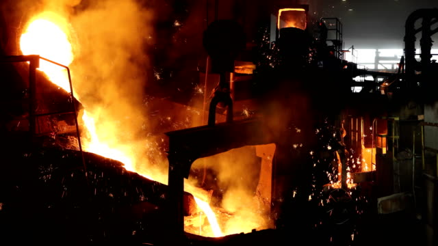 hard work in foundry - ferro video stock e b–roll