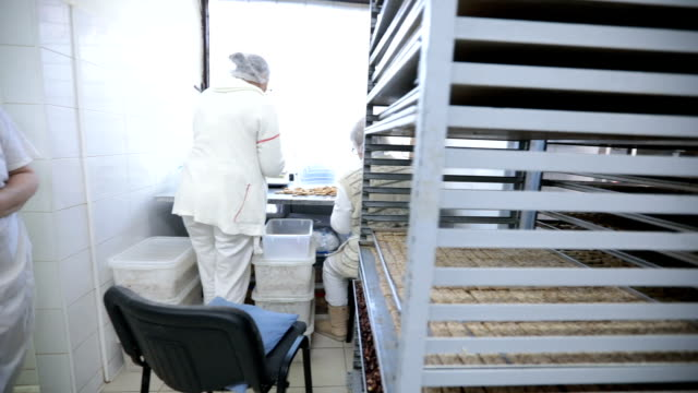 Hardworking team in bakery video