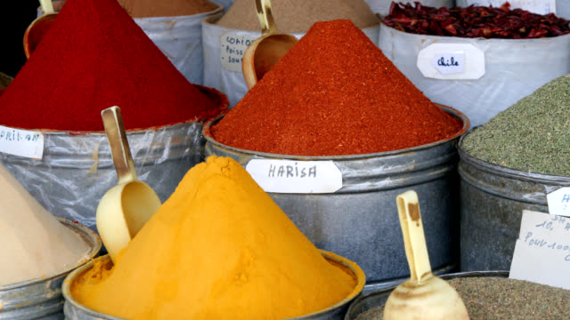 Harisa and other Moroccan spices video
