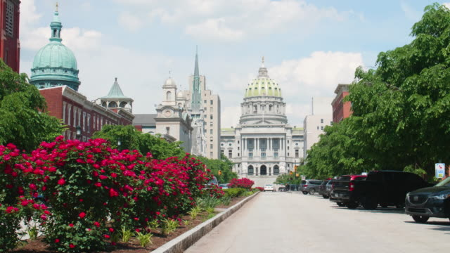 Harrisburg Pennsylvania State Capitol Buildings Harrisburg Pennsylvania State Capitol Buildings supreme court stock videos & royalty-free footage
