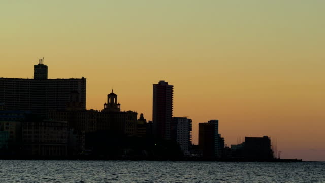 Havana at Sunset Close-up, Cuba video