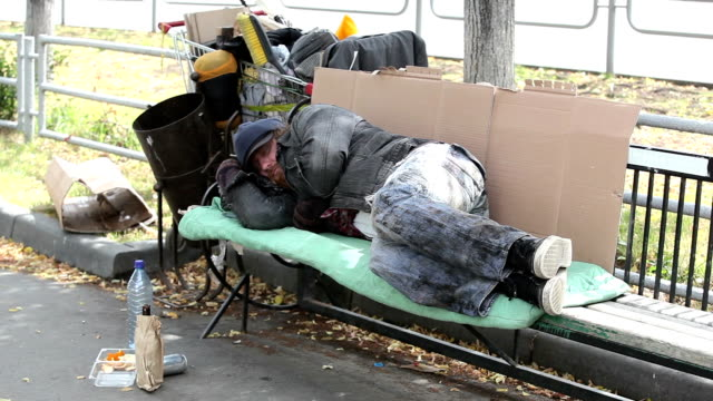 having a rest - homelessness stock videos & royalty-free footage