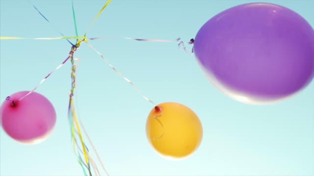 Having fun with balloons.